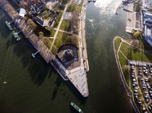 Koblenz-Stadt Deutschland mit historischer deutscher Ecke 4 lizenzfreie stockfotografie