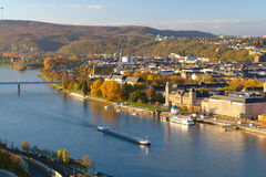Koblenz on a sunny morning. Koblenz on a sunny autumn morning Stock Images