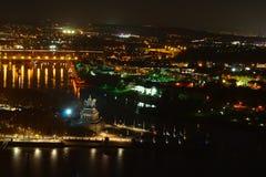 Koblenz vid natt Arkivfoto