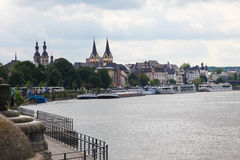 Koblenz. View on the bank of the river Rhine in Koblenz, Germany Royalty Free Stock Photos