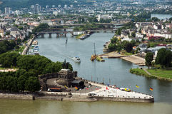 Koblenz. View from Koblenz town, Germany Royalty Free Stock Images