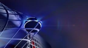 Kobold im Netz des Eishockeyziels Stockfotos