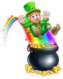 Kobold-Regenbogen-Goldschatz St. Patricks Tages Lizenzfreie Stockbilder