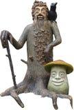 Kobold und Pilz stockbilder