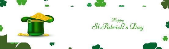 Koboldhut voll von Goldmünzen für St Patrick Tag stock abbildung