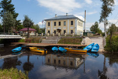 Kobona. Leningrad region. Russia. The building of the former guardhouse Ladoga channel battalion. Canals and waterworks served and protected Ladoga channel Stock Image