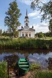Kobona. Leningrad region. Russia. Church of St. Nicholas. Royalty Free Stock Photography