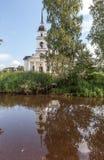 Kobona. Leningrad region. Russia. Church of St. Nicholas. Royalty Free Stock Photos