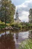 Kobona. Leningrad region. Russia. Church of St. Nicholas. Stock Photography