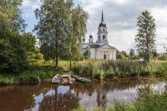 Kobona. Leningrad region. Russia. Church of St. Nicholas. Stock Photos