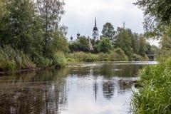Kobona. Leningrad region. Russia. Church of St. Nicholas. Royalty Free Stock Photo