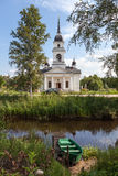 Kobona. Leningrad region. Russia. Church of St. Nicholas. Stock Image