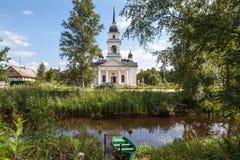 Kobona. Leningrad region. Russia. Church of St. Nicholas. Royalty Free Stock Images