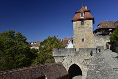 Kobozeller Gate in Rothenburg ober Tauber,Germany Royalty Free Stock Photography