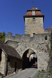 Kobozeller Gate in Rothenburg ober Tauber, Germany Royalty Free Stock Images