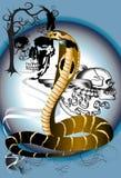 Kobra i czaszka Zdjęcia Stock