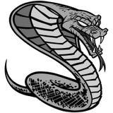 Kobra tatuażu ilustracja Obrazy Royalty Free