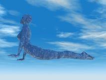 kobran poserar yoga Fotografering för Bildbyråer