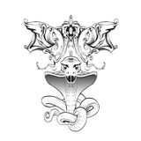 Kobraormen gör bar tandmallvektorn royaltyfri illustrationer