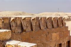 Kobry Djoser grobowiec Zdjęcia Stock