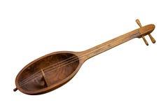 Kobyz popular do instrumento musical do Cazaque - prima isolado no fundo branco Fotos de Stock