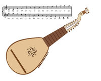 Kobza Ukrainian musical instrument Stock Images