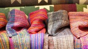 Koc i scarves obrazy stock
