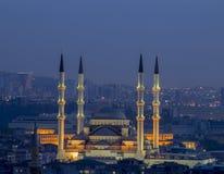 Kocatepe moské i Ankara Arkivbilder