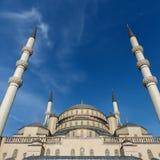 Kocatepe moské i Ankara Turkiet Arkivfoto
