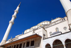 Kocatepe mosque. View of the kocatepe mosque and sky Royalty Free Stock Photos