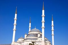 Kocatepe mosque. View of the kocatepe mosque and sky Stock Photography