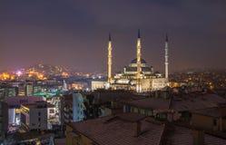 Kocatepe Mosque in Ankara,Turkey at night time. Night landscape of Ankara Royalty Free Stock Image