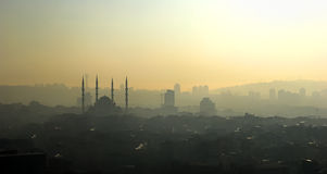 Kocatepe Mosque Silhouette Royalty Free Stock Image
