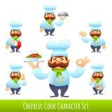 Koch Cartoon Characters Lizenzfreie Stockfotografie
