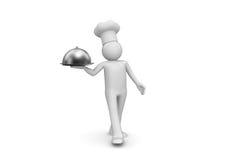 Koch, der neuen Teller vorstellt Stockfotos