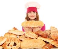 Koch des kleinen Mädchens Lizenzfreies Stockbild