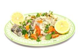 Koch gedämpfte Fische Stockbild