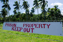 Koch-Island Prison Rehabilitations-Mitte in Rarotonga-Koch Islan Lizenzfreies Stockfoto