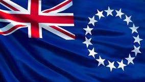 Koch Islands Flag Wellenartig bewegende Flagge von Illustration Koch-Islands 3d stock abbildung