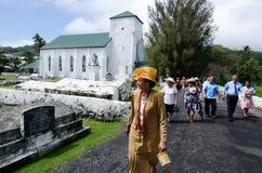 Koch-Islands-Leute beten bei CICC Kirche Lizenzfreies Stockbild