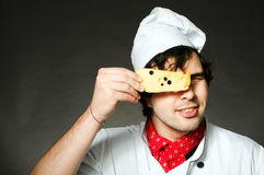 Koch mit Käse Lizenzfreie Stockfotos