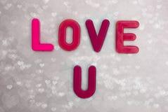 Kocha ciebie. Zdjęcia Royalty Free