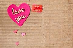 Kocha Ciebie - Jest mój valentine Obraz Royalty Free