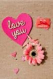 Kocha Ciebie - Jest mój valentine Fotografia Stock