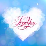 Kocha Ciebie wektor karta Zdjęcie Stock