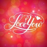 Kocha Ciebie wektor karta Zdjęcia Stock