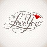 Kocha Ciebie wektor karta Zdjęcie Royalty Free