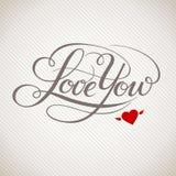 Kocha Ciebie wektor karta Fotografia Royalty Free