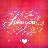 Kocha Ciebie wektor karta Obrazy Royalty Free