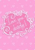 Kocha ciebie z całego serca Zdjęcia Royalty Free